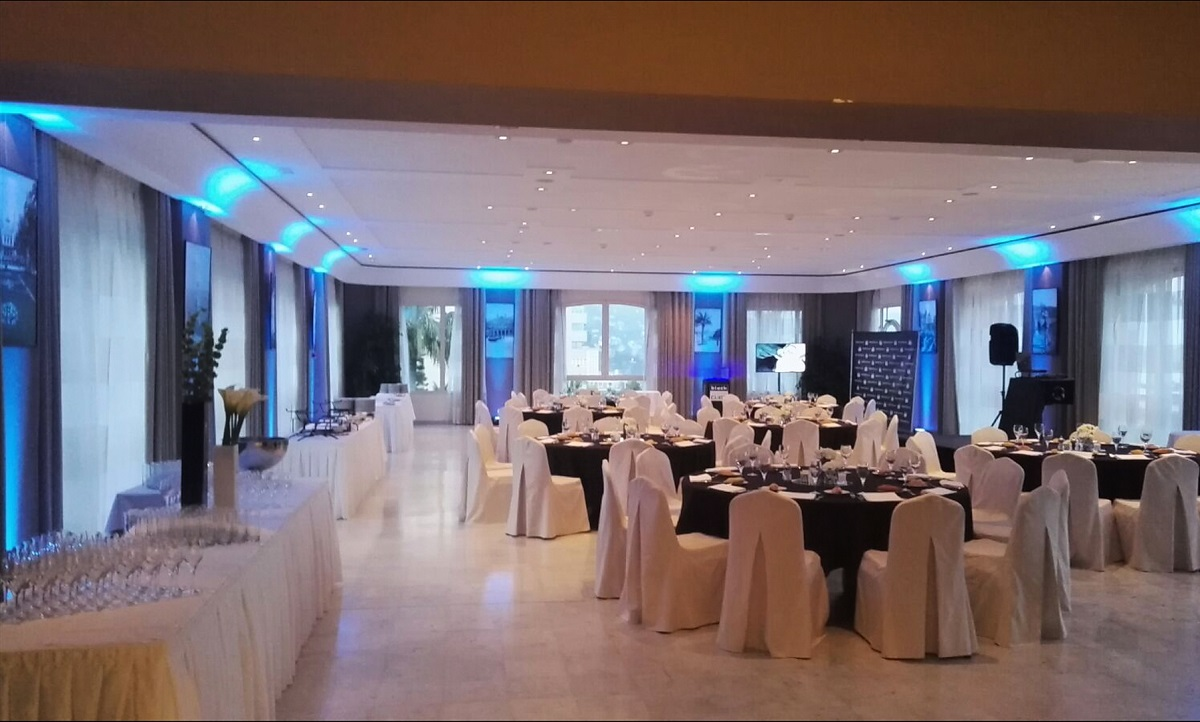 Corporate Dinner Dance Ambient Uplighting - Monaco, Cannes, French Riviera...