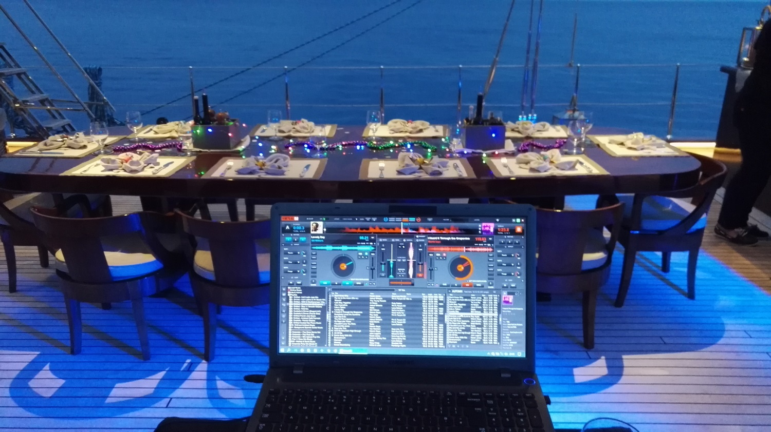 Mood Lighting for private events on Sailing Boats & Yachts etc - St Tropez, Cannes, Monaco, Cote d'Azur