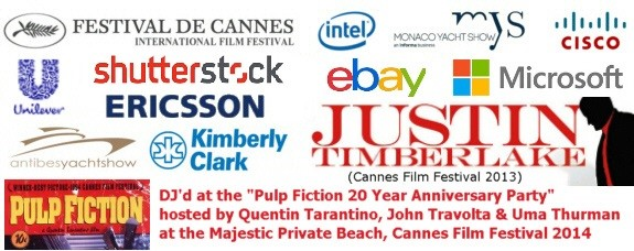 Some of the clients we've been entrusted to entertain include Cisco, Intel, Cannes Internation Film Festival, Kimberley Clarke, Ericsson, Monaco Yacht Show and many more...