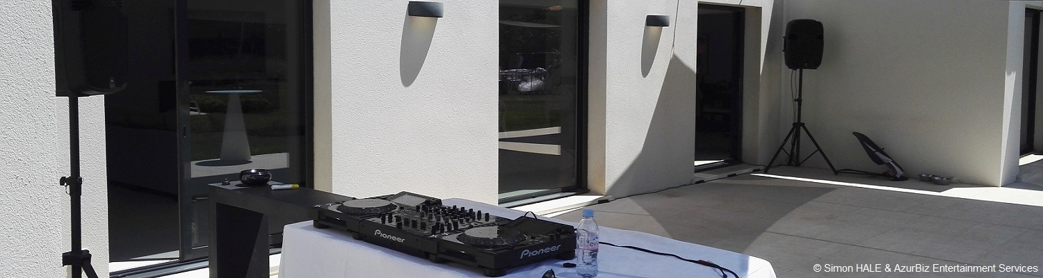 Pioneer DJ Equipment Rental and state-of-the-art Sound Systems - for DJ's travelling to the Cote d'Azur to perform