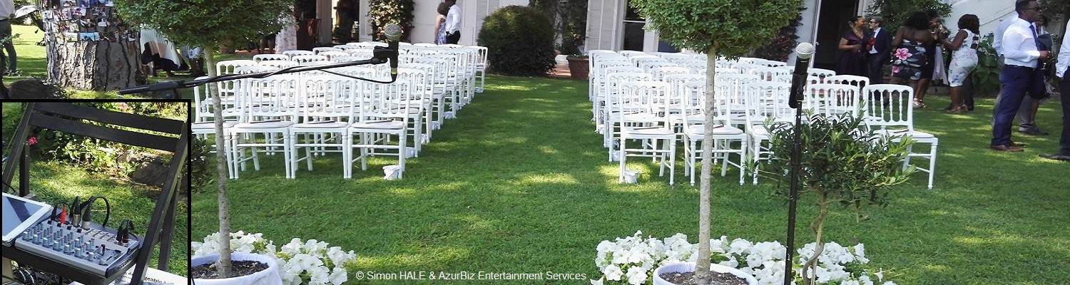 `Wedding Ceremony Services` - Microphones, Compact Sound Systems, Music Management etc. - ensure your ceremony goes without a hitch