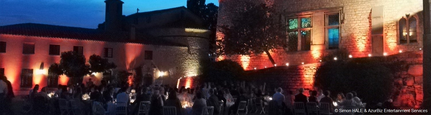 Ambient Uplighting - for Weddings / Marriages, Corporate Events, Private Parties along the Cote d'Azur