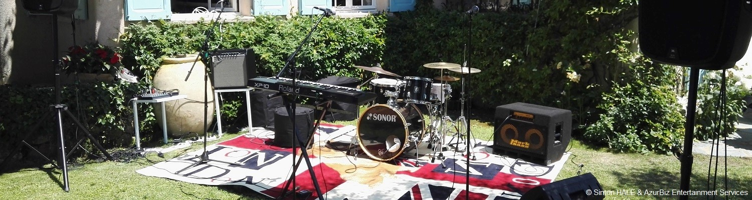 Group / Band Equipment Rental - for groups & acts heading over to the French Riviera...