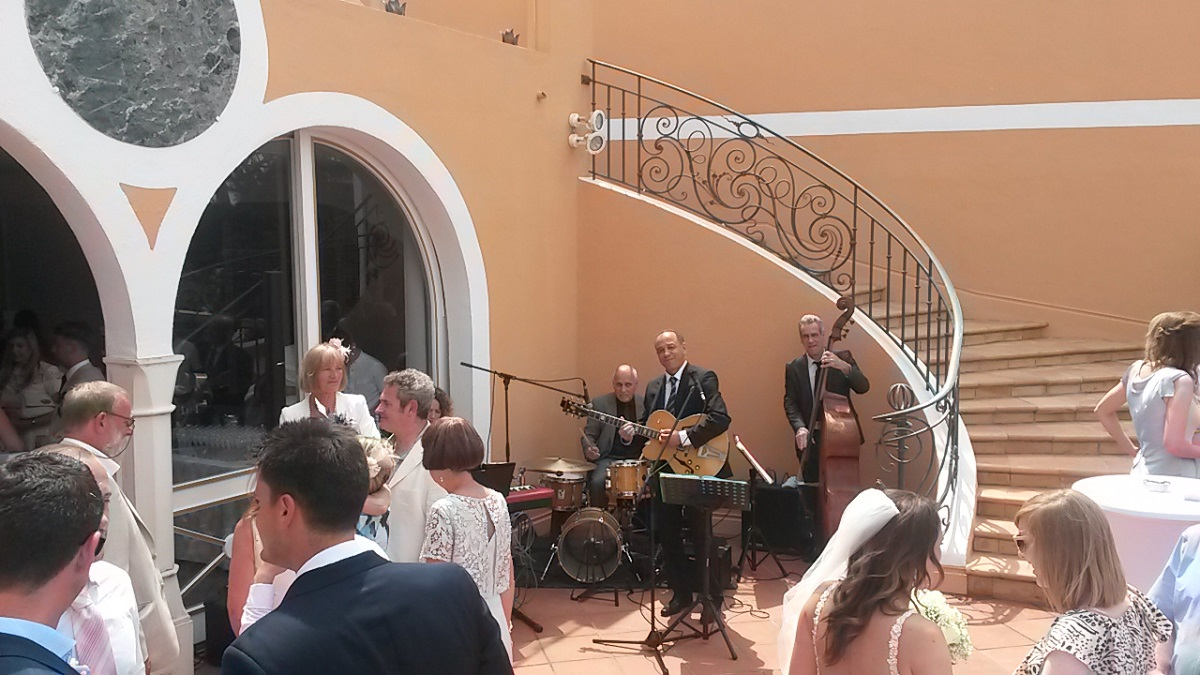 Jazz Band for Weddings / marriages / cocktail receptions in Cannes, St Tropez, Monaco, French Riviera