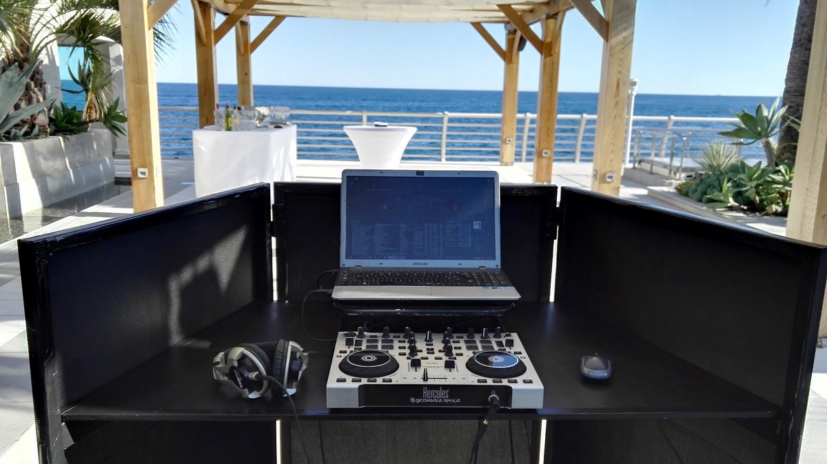 professional DJ Booth - for private villas, corporate events, luxury yachts etc, all along the French Riviera